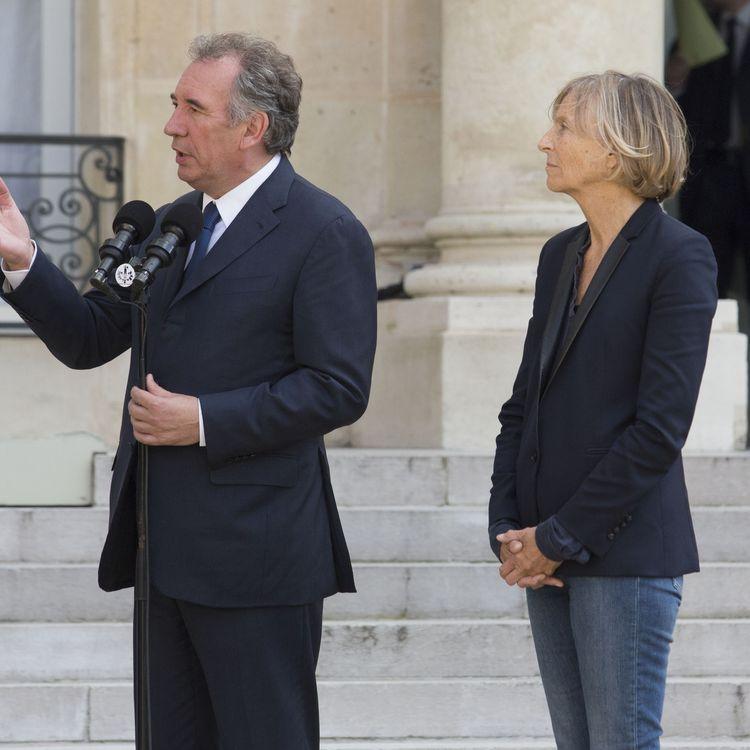 François Bayrou et Marielle de Sarnez, le 25 juin 2016 à l'Elysée. (GEOFFROY VAN DER HASSELT / AFP)
