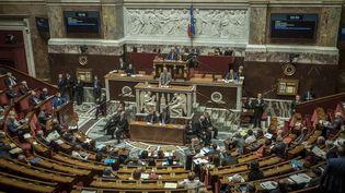 L'hémicycle de l'Assemblée nationale, le 12 mai 2016. (OLIVIER DONNARS / AFP)