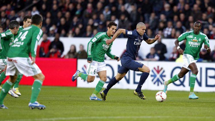 Guillaume Hoarau a offert la deuxième réalisation aux Parisiens (THOMAS COEX / AFP)
