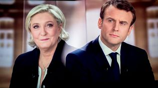 Marine Le Pen et Emmanuel Macron lors du débat d'entre-deux-tours, le 3 mai 2017 sur France 2. (MAXPPP)