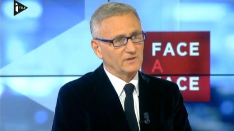 André Vallini,secrétaire d'Etat à la réforme territoriale, sur i-Télé, le 23 avril 2014. (I-TELE / FRANCETV INFO)
