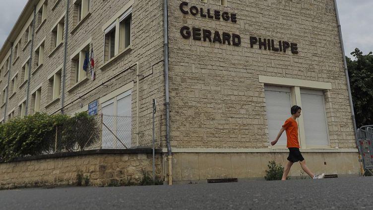 Le collège Gérard Philippe, à Chauvigny dans la Vienne. (GUILLAUME SOUVANT / AFP)