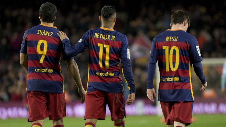 Luis Suarez, Neymar et Lionel Messi, le trio fabuleux du Barca (ALBERT LLOP / ANADOLU AGENCY)