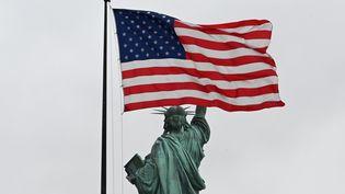 Le statue de la Liberté et le drapeau américain. Photo d'illustration. (TIMOTHY A. CLARY / AFP)