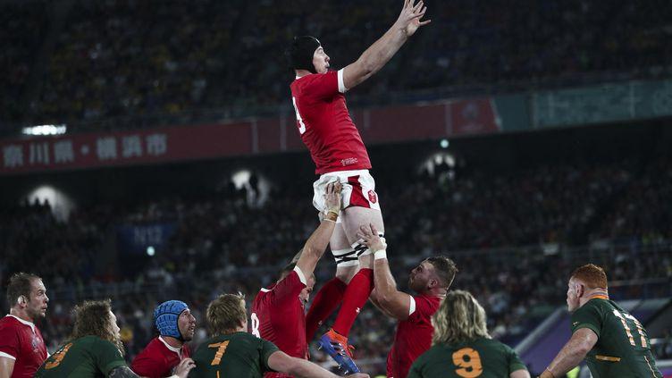 Adam Beard, deuxième ligne du pays de Galles, le 27 octobre 2019.  (BEHROUZ MEHRI / AFP)