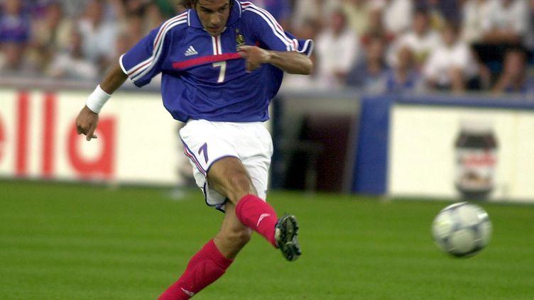 Robert Pires en 2001 face au Danemark (FRANK PERRY / AFP)