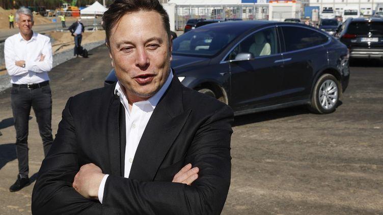 Le patron de Tesla, Elon Musk, le 3 septembre 2020 à Berlin (Allemagne). (ODD ANDERSEN / AFP)