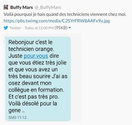 Capture d'écran du tweet de @_BuffyMars posté le 16 janvier 2017. (BUFFYMARS)