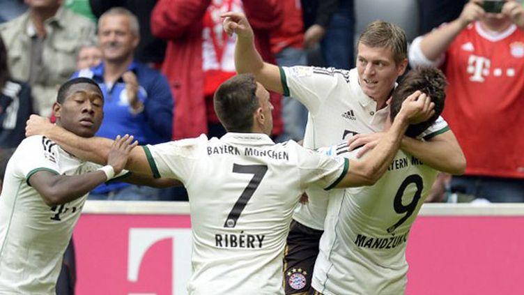 Les Munichois tout à leur joie avec notamment Ribéry et Mandzukic