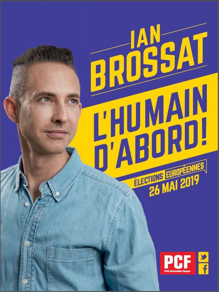 L'affiche de la listedu Parti communistepour les européennes 2019. (FRANCEINFO)