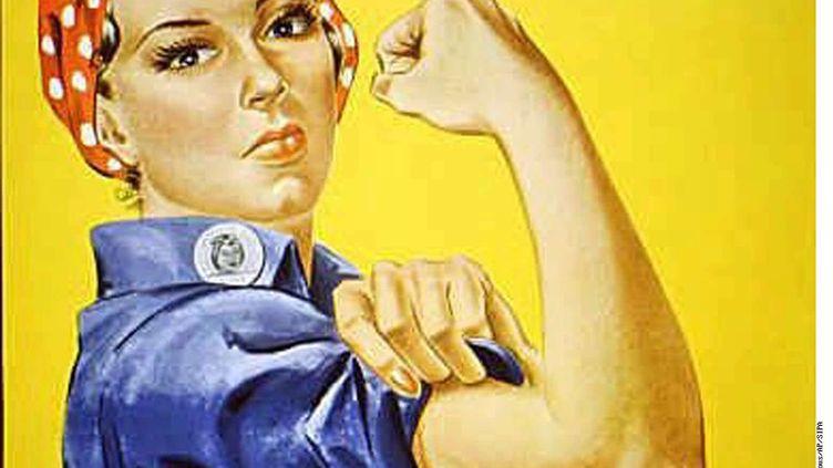 """L'affiche représentant l'ouvrière """"Rosie the riveter"""", le 28 mars 2014. (ANONYMOUS / AP / SIPA / AP)"""