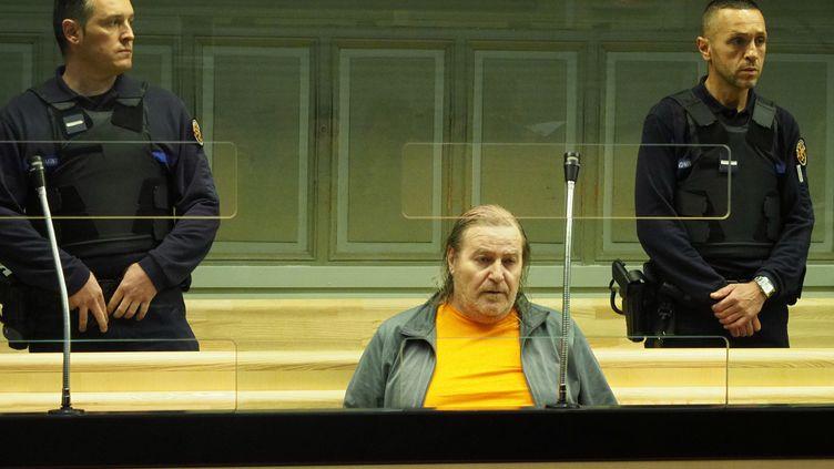 Jacques Rançon lors de son procès aux assises des Pyrénées-Orientales à Perpignan, le 5 mars. (RAYMOND ROIG / AFP)