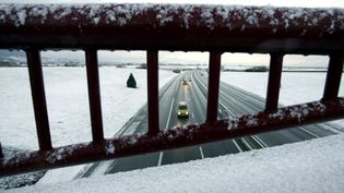 Neige en Alsace (photo d'illustration). (OLIVIER MORIN / AFP)