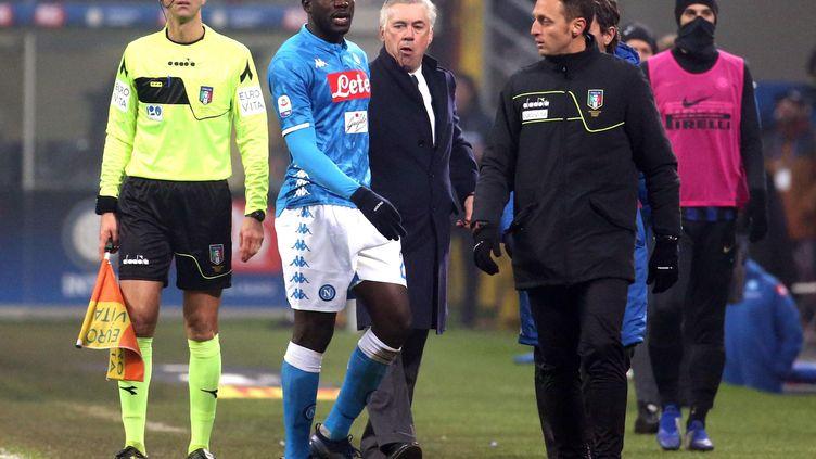Le défenseur de Naples et international sénégalais, KalidouKoulibaly, a été victime d'injures racistes lors du match à Milan le 26 décembre 2018. (MATTEO BAZZI / ANSA)