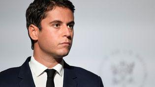 Gabriel Attal, le porte-parole du gouvernement, à l'Elysée, à Paris, le 28 septembre 2020. (BERTRAND GUAY / AFP)