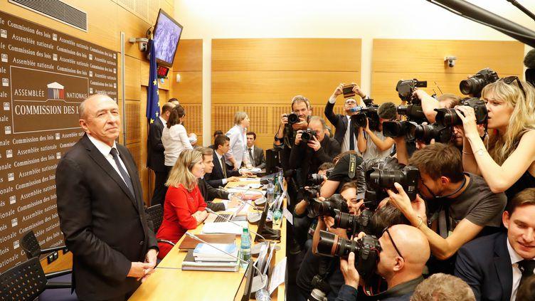 Le ministre de l'Intérieur Gérard Collomb, entendu par la commission d'enquête parlementaire, lundi 23 juillet (FRANCOIS GUILLOT / AFP)