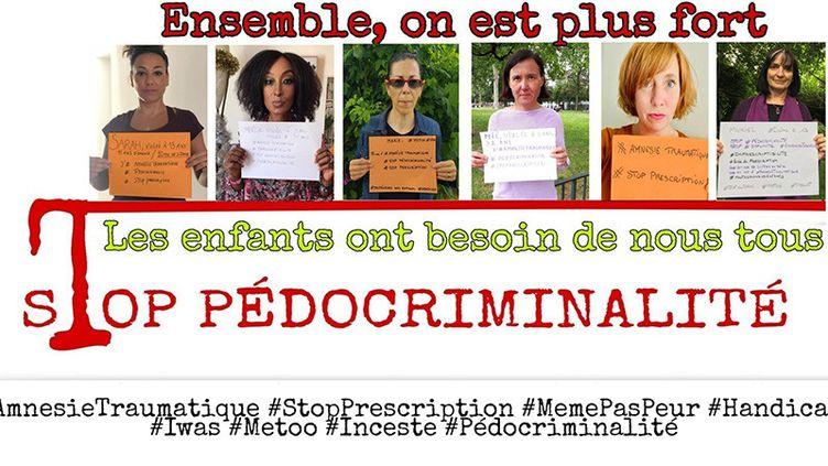 """Campagne contre les violences sexuelles menée sur les réseaux sociaux par des victimes de viol, 19 juin 2020. (#AmnesieTraumatique""""#StopPrescription)"""