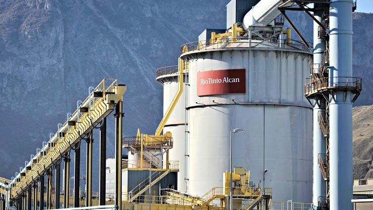L'usine d'aluminium Rio Tinto Alcan àSaint-Jean-de-Maurienne (Savoie),le 15 mars 2012. (JEFF PACHOUD / AFP)