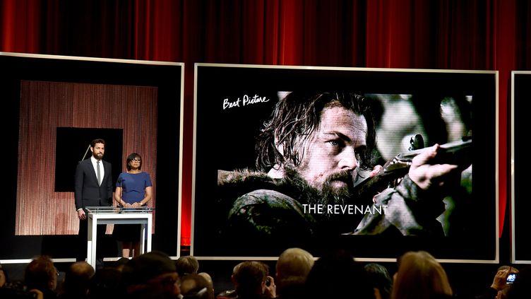 """Le film """"The Revenant"""",nommé dans12 catégories, est le grand favori des Oscars 2016. (KEVIN WINTER / GETTY IMAGES NORTH AMERICA)"""