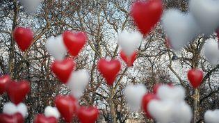 Plus de la moitié des Français ne voient pas la Saint-Valentin comme une fête romantique mais comme une opération commerciale. (LIONEL BONAVENTURE / AFP)