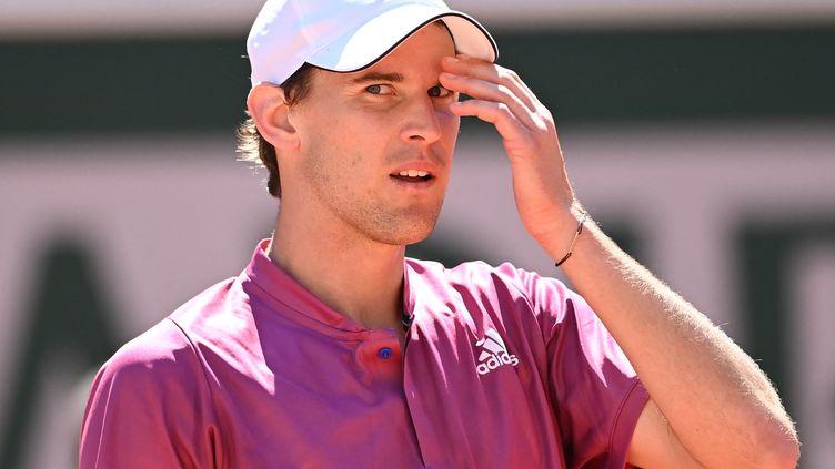 Dominic Thiem à Roland-Garros, le 30 mai 2021. (MUSTAFA YALCIN / ANADOLU AGENCY)