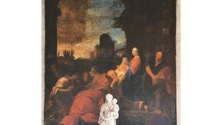 L'adoration des Mages, oeuvre de Joseph Vivien retrouvée dans l'église Saint-Nicolas de Givors (Rhône) (Ville de Givors)