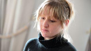 """Cécile Bourgeon, la mère de Fiona, le 18 mai 2013 à Perpignan, une semaine après la """"disparition"""" de la fillette. (MAXPPP)"""