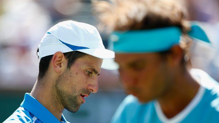 La route de Novak Djokovic va croiser celle de Rafael Nadal en demi-finale. (JULIAN FINNEY / GETTY IMAGES NORTH AMERICA)