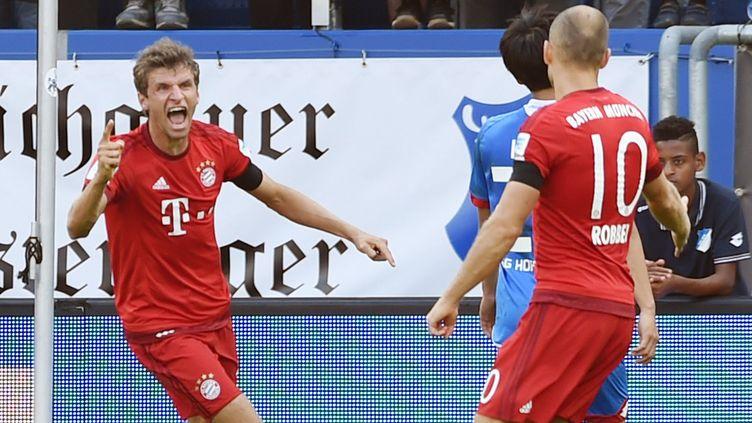 Thomas Müller avait égalisé juste avant la pause (ULI DECK / DPA)