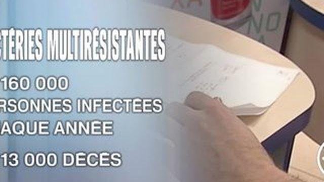 es bactéries résistantes aux antibiotiques font 13 000 morts chaque année