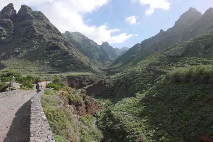 Depuis Punta de Hidalgo, un sentier conduit à travers la montagne avec des vues superbes, des roches découpées, des grottes naturelles vers le village troglodyte de Chimanada (Photo Emmanuel Langlois)