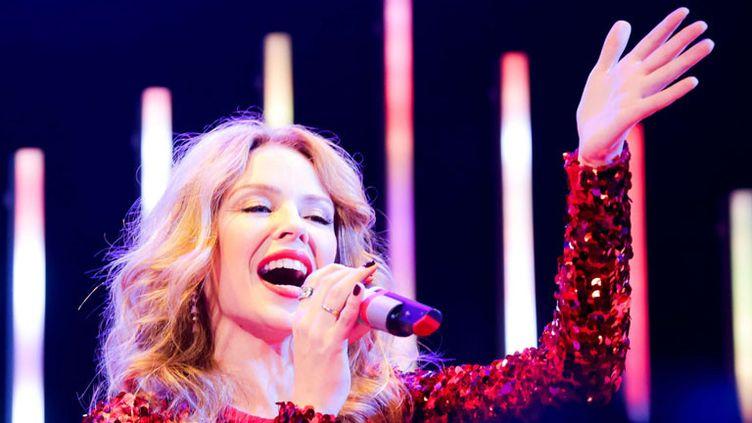 Kylie Minogue sur scène à New York en décembre 2014  (SIPANY/SIPA )