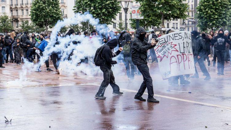 (Comme à Paris, les manifestants se sont heurtés aux forces de l'ordre  © MaxPPP)
