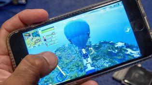 Un joueur de Fortnite sur iPhone, le 14 août 2020. (CRISTOBAL HERRERA-ULASHKEVICH / EPA)