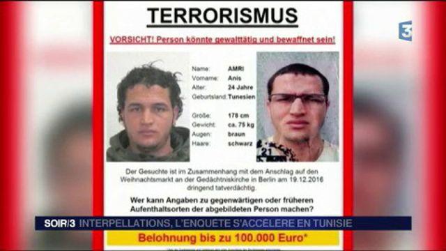 Attentat à Berlin : trois arrestations dans l'entourage d'Anis Amri