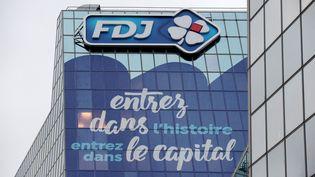 Le siège social de la Française des Jeux à Boulogne-Billancourt (Hauts-de-Seine). (ERIC PIERMONT / AFP)