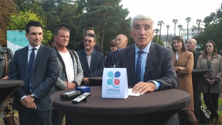 Gérard Trémège, maire de Tarbes (Hautes-Pyrénées), le 22 octobre 2019. (ROMAIN DÉZÈQUE / RADIO FRANCE)