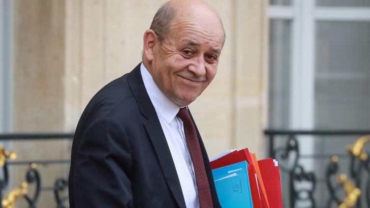 Le ministre des Affaires étrangères, Jean-Yves Le Drian, à l'Elysée à Paris, le 4 mars 2020. (LUDOVIC MARIN / AFP)