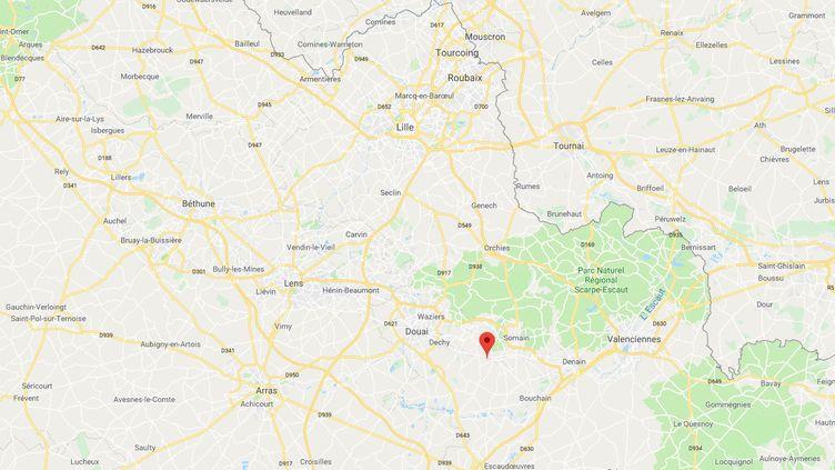 """Un bébé de 2 ans a subi des """"sévices""""lors de soirées chez des amis de sa mère àAuberchicourt (Nord), a annoncé le procureur de Douai, le 21 décembre 2018. (GOOGLE MAPS)"""