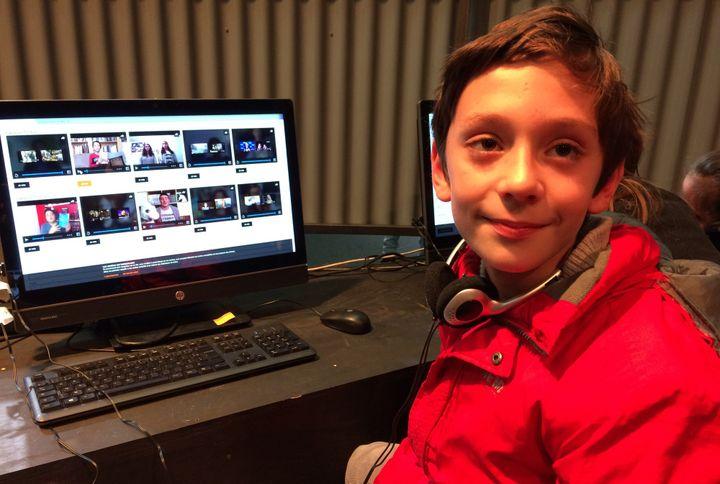 Victor Merian, 10 ans, finaliste du concours Booktube Power  (laurence Houot / Culturebox)