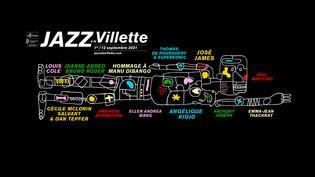 L'affiche officielle de l'édition 2021 (JAZZ À LA VILLETTE)