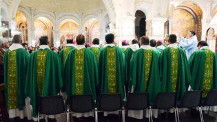 La Conférence des évêques de France (CEF) à Lourdes, le 5 novembre 2019. (LAURENT FERRIERE / HANS LUCAS)