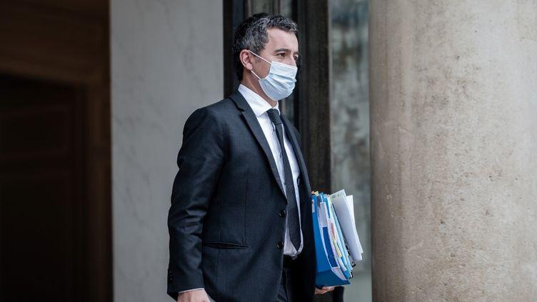 Le ministre de l'Intérieur, Gérald Darmanin, au palais de l'Elysée à Paris, le 10 novembre 2020. (ARTHUR NICHOLAS ORCHARD / HANS LUCAS / AFP)