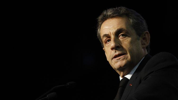 Nicolas Sarkozy, le 20 mars 2015 àDammarie-les-Lys (Seine-et-Marne). (CITIZENSIDE/FRANÇOIS LOOCK / AFP)
