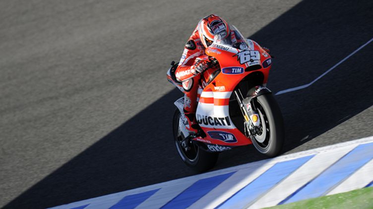 L'Américain Nicky Hayden (Ducati)