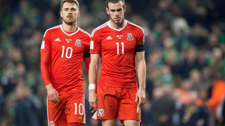 Les Gallois Aaron Ramsey et Gareth Bale (absent contre la France)