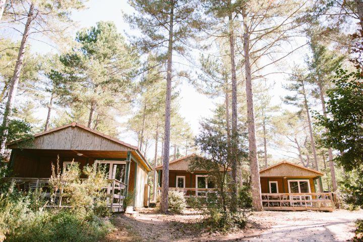 Des bungalows au camping de Belezy (Vaucluse). (SEBASTIEN BOUDOT)