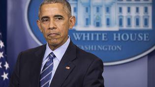Le président américain Barack Obama le 16 décembre 2016 àWashington DC (Etats-Unis). (SAMUEL CORUM / ANADOLU AGENCY / AFP)