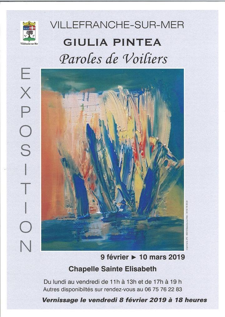 """Affiche de l'exposition """"Paroles de Voiliers""""  (chapelle Sainte Elisabeth)"""