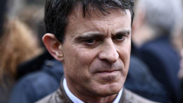 L'ancien Premier ministre Manuel Valls à Madrid (Espagne), le 10 février 2019. (OSCAR DEL POZO / AFP)
